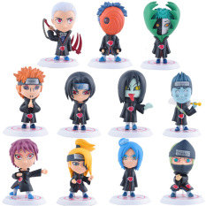 Where Can I Buy 11Pcs Set 3 1Inch Naruto Akatsuki Uchiha Itachi Madara Sasuke Hidan Orochimaru Tobi Pein Deidara Dolls Action Figures Anime Toys