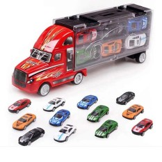 12 Pcs Container Truck Toy Cars Alloy Car Model Birthday Xmas Gift Toy Car - Intl By Watson.