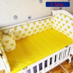 120 65Cm Crib Bedding Sets Cotton Baby Bedding Sets Include Bumper Mattress Set Intl Best Buy