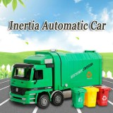 1 22 Kids Garbage Truck Sanitation Trucks Toy Car Model Trash Can New Year Gift Intl In Stock