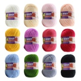 Cheapest 12Pcs Assorted Colors Baby Kids Skein Acrylic Knitting Yarn Ball Set Intl Online