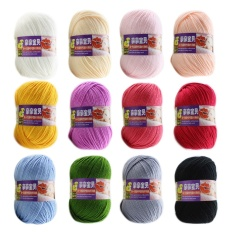 12Pcs Assorted Colors Baby Kids Skein Acrylic Knitting Yarn Ball Set Intl Deal
