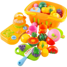 Get The Best Price For 13 Pcs Set Kitchen Fun Cutting Fruits Vegetables Baskets Play Toy Set For Kids Children Babies Random Color