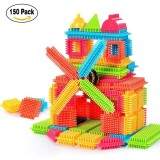 Retail 150Pcs Bristle Shape 3D Building Blocks Tiles Construction Playboards Toys Intl