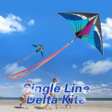How To Buy 160 X 90Cm 63 X 35 5In Large Delta Kite Outdoor Sport Single Line Flying Kite With Tail For Kids Adults Intl