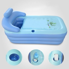 160Cm *d*lt Blowup Folding Warm Inflatable Bathtub With Air Pump Spa Intl Best Price