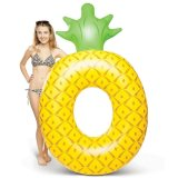 Compare Prices For 180X120Cm Pvc Inflated Pineapple Shape Loungers Swimming Pool Float Yellow Intl