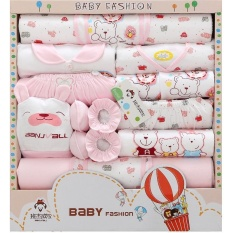 18Pcs Set Newborn G*rl Clothes 12 Months Long Sleeve Cotton New Born Baby Boy Clothing Gift Sets Suit Summer Infant Clothing Intl Compare Prices