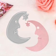 1pc Moon Shaped Carbon Steel Dies Stencils For Diy Scrapbook Album Paper Card Decor - Intl By Highfly.