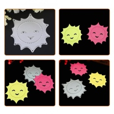 1pc Sun Shaped Carbon Steel Dies Stencils For Diy Scrapbook Album Paper Card Decor - Intl By Highfly.