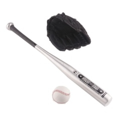 1set Aluminum Baseball Bat +glove +ball Kids Outdoor Sport Play Toy Hardball 24 Inches For Kids Gift - Intl By Jrtech.