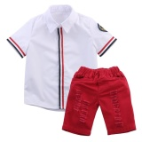 Price 2 7Y Kids White Shirt Tops Red Ripped Shorts Children Boys Clothing Set Outfits Fashion Intl Oem Online