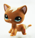 Top Rated 2 Brown Cat Littlest Pet Shop Lps 1170 Kitty Animals Kids Toys Blue Eyes G*rl Toys Intl