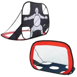 List Price 2 In 1 Foldable Portable Outdoor Indoor Soccer Goal Sports Shooting Practice With Round Zipper Carry Bag Intl Not Specified