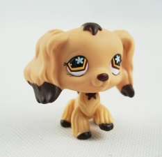 2 Inches Littlest Pet Shop #575 LPS Tan Cocker Spaniel Dog Puppy Brown Dipped Ears