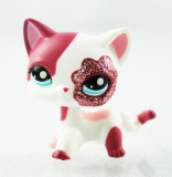 Retail Price 2 Pink White Sparkle Glitter Short Hair Cat Littlest Pet Shop Lps 2291 Animals Intl