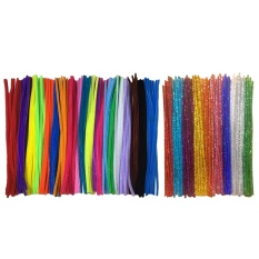 200pcs Chenille Stems And 100pcs Glitter Stems Set For Diy Crafts Decorations Assorted Color - Intl By Vococal Shop.