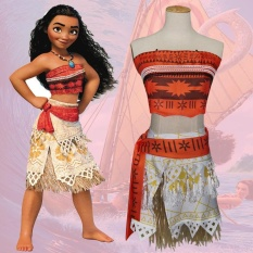 2017 Cartoon With The Clothing Child Birthday Gift Fine Children S Clothing Toys Ocean Romance Cos Moana Cosplay Costume Size L Intl Free Shipping