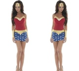 Best Rated 2017 Magic Women S Clothing Dc Comic Book Hero Female Superman Cosplay Costume Halloween Stage Show Party Clothes(In One Size) Intl