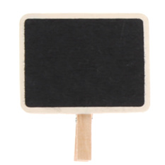 20pcs Mini Retangle Chalkboard Blackboard Clip Tag - Intl By Crystalawaking.
