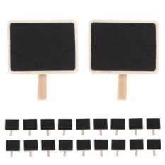 20pcs Mini Retangle Chalkboard Blackboard Clip Tag - Intl By Welcomehome.