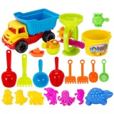Best Buy 21 Pcs Funny Kids Beach Sand Game Toys Set Including Shell Dolphin Shovels Rakes Truck Hourglass Kids Beach Pretend Playset Role Play Toy Kit Intl