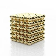 Coupon 216Pcs 5Mm Buckyballs Neocube Magnetic Balls Magnet Educational Toy Cube Puzzle (Gold) Intl