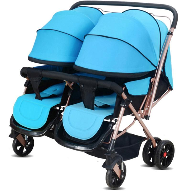 JIJI 21A Lightest Double Stroller (Free Installation) - (Prams/Stroller) Dual Back Adjustable Foldable High Quality Wheels Design Portable Baby Carriage Stroller (Free Delivery) (SG) Singapore
