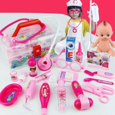 Price 21Pcs Children Simulation Doctor Medicine Appliance Kit Pretend Play Toy Set Pink Intl Oem China