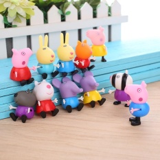 Review 21Pcs Movie Figures Peppa Pig Family Friends Big George Peppa Pig Anime Pappa Intl Oem On China
