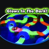 Retail Price 220Pcs Lot Magic Tracks Bend Flex Glow In The Dark Assembly Toy Diy Glowing Racing Set With Free 1Pc Led Car Intl