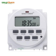 Sale 220V Lcd Display Programmable Control Power Timer For Streetlight Neon Light Lamp Water Heater Air Conditioner Billboard Electric Cooker Booster Sprayer Bottler Preheater Agriculture Facilities Broadcasting Equipment Intl Online On China