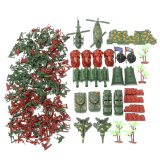 270Pcs Military Soldiers Toy Kit Army Men Figures Accessories Model Playset Intl Sale