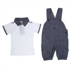 91f2b0a4c4a7 2pcs Baby Boys Clothes Outfit Toddler Kid Boy Outfits Shirt + Pants - intl