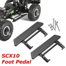 Sales Price 2Pcs Metal Side Step Plate Pedal Rall Mount For Axial Scx10 1 10 Rc Crawler Car Intl