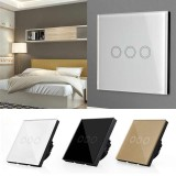 3 Gang 433Mhz Smart Touch Screen Wall Led Light Switch Panel Eu Standard Intl Compare Prices