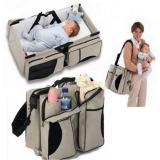 Review 3 In 1 Diaper Bag Travel Bassinet Change Station Cream Multi Purpose Baby Diaper Tote Bag Bed Nappy Infant Carrycot Crib Cot Intl China