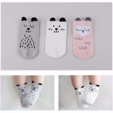 3 Pairs Baby Girls Slip-Resistant Cotton Socks For 0-12 Months - Intl By Yw Store.