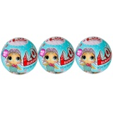 Discounted 3 Pcs Lol Surprise Doll Toy Removable Egg Ball Toy Kids Educational Toys Series 1 Random Style Intl