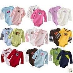 3-Piece Baby Clothing 2017 New Baby Girl Newborn Clothes Long Sleeve Infant Rompers Summer