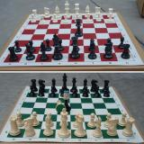 Best Offer 32 Pcs Set Medieval Chess Pieces Plastic Weighted Full Complete Chess 64Mm Intl