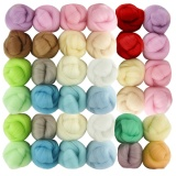 Low Price 36 Pcs Fiber Wool Roving Yarn For Needle Felting Diy Craft Random Color 5G Each Bag Intl