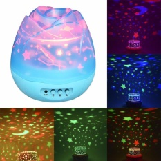 360 Degree Rotating 3 Mode Star Light Projector Romantic Cosmos Star Lamp Bedroom Night Light For Children Intl
