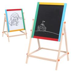 360dsc Wooden Double-Sided Magnetic Drawing Board Writing Board Sketchpad Easel(export) By 360dsc.