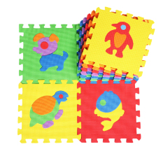 360wish Kids Puzzle Cute Animals 10 Tiles With Edges Play Foam Mat (30*30cm) (export) By Wish360.