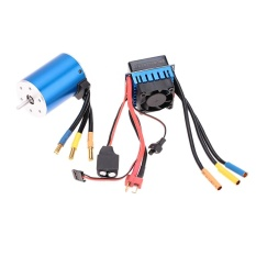 Lowest Price 3650 3100Kv 4P Sensorless Brushless Motor With 60A Brushless Esc Electric Speed Controller For 1 10 Rc Car Truck Intl