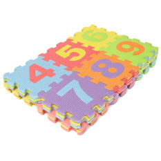 36pcs Soft Eva Foam Baby Kids Play Mat Alphabet Number Puzzle Jigsaw 14.2x14.2cm By Freebang.