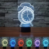 3D Desk Lamp Colorful Led Romantic Night Light Touch Control Decoration Clock Lights Intl For Sale