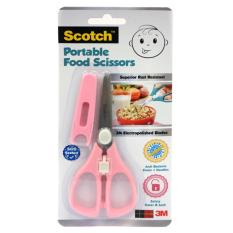 Brand New 3M Scotch Portable Food Scissors Anti Bacterial Pink 3M Ps Abp