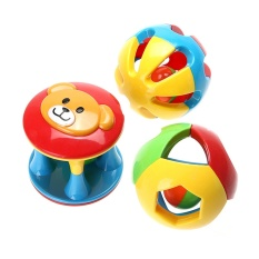 3pcs Baby Rattles Toy Fun Little Loud Jingle Ball Ring Jingle Develop Baby Intelligence Baby Toy Gifts By La Chilly.